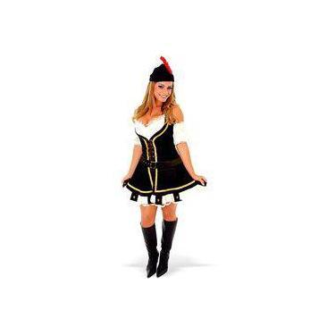Imagem de Fantasia Robin Hood Feminino Adulto Heat Girl Completa Com Chapéu