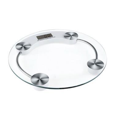Balança Eletrônica Shael 180Kg Digital para Banheiro/Piso - transparente