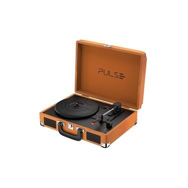Vitrola Retrô Pulse SP364 Berry Suitcase C/ Bluethooth Bivolt 5W Marrom