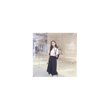 Calças femininas de cintura alta solta xadrez com perna larga calças culottes