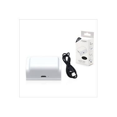 Bateria Controle Xbox One S e X Branco Com Cabo Carregador