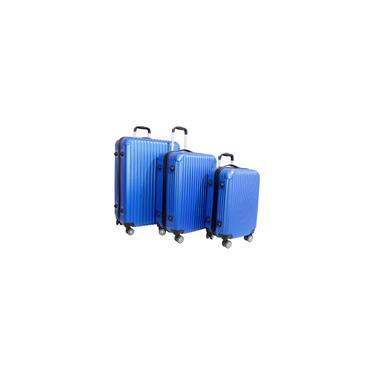 Imagem de Kit Conjunto de Malas de Viagem P/m/g em Abs Nagano Azul