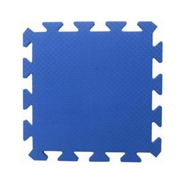 Tapete Tatame EVA Yoga Lutas Ginastica Azul Royal 50x50x1cm 10mm