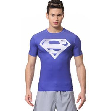 Imagem de Camiseta Masculina Red Plume, Compressão, Série Super-Hero, M