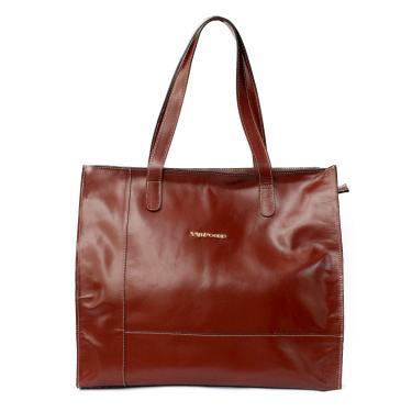 8dec1bda1c312 Bolsa feminina grande de couro legítimo modelo sacola