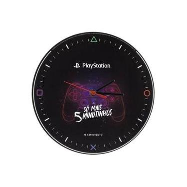 Relógio De Parede PlayStation - Só mais 5 minutinhos!