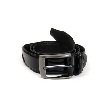 Cinto Social Pierrô couro legítimo verniz cor preto (ref. 04P)