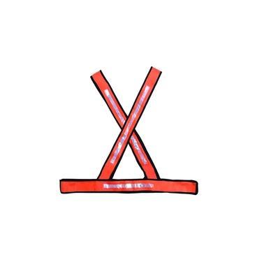 Colete refletivo X laranja / branco - Plastcor