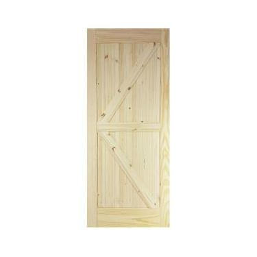 Porta de Celerio De Madeira tipo Correr Interna Modelo K Goede 81cm x 213 cm Natural