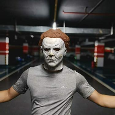 Imagem de Halloween Michael Myers Máscara Festa de Cosplay de Látex para Adulto