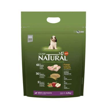 Ração Affinity Guabi Natural Frango e Arroz Integral para Cães Filhotes Raças Média - 2,5 Kg