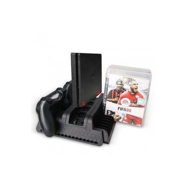 Base Suporte Vertical Ps4 Pro E Slim Multifuncional Playstation 4 Preto - Dobe