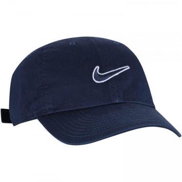 Boné Nike Sportswear Heritage86 Essential Swoosh 943091-451, Cor: Azul Marinho, Tamanho: ÚNICO