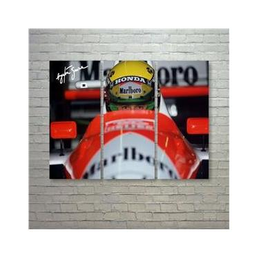 Quadro Ayrton Senna Fórmula 1, F1 Mclaren, Mp4/4 Honda Lotus
