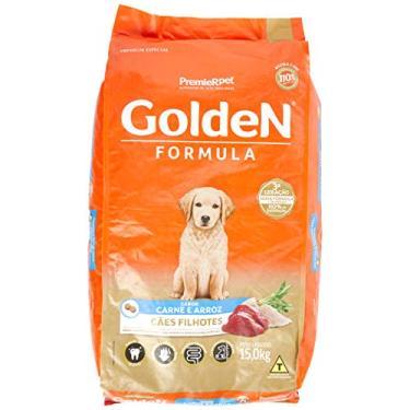 Premier Pet Golden Ração para Cães Filhotes, Sabor Carne e Arroz, 15kg