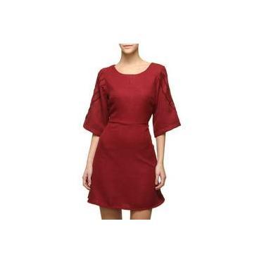 Vestido By NV Tweed Viés Red Bud