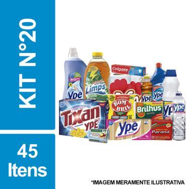 Cesta Básica De Higiene E Limpeza C/ 45 Itens