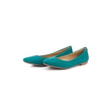 Sapatilha Feminina Bico Fino Top Franca Shoes Turqueza
