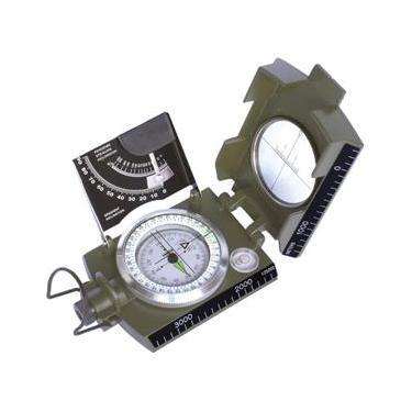 Bússola Profissional Tipo Militar K-4074 41148 - Escala Métrica Graduada - Tabela Para Cálculo