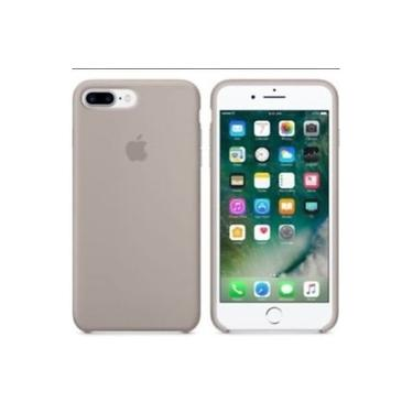 Capa Capinha Case em silicone para iPhone 7/8 PLUS Cinza