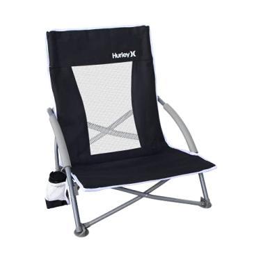 Imagem de Hurley Low Sling Outdoor Folding Chair, Black