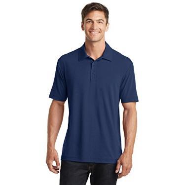 Camisa polo masculina Port Authority K568 de algodão Touch Performance azul GG