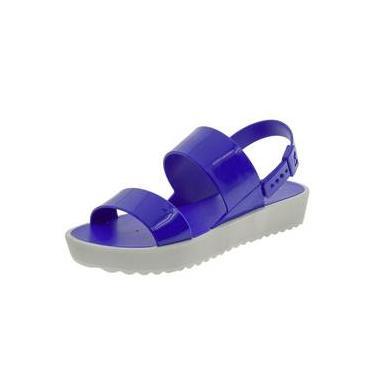 a757bf64f4 Sandália Feminina Flatform Clubber Azul Zaxy - 17222