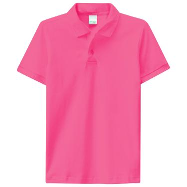 Camisa Polo piquê, Malwee Kids, Meninos, Salmão, 12