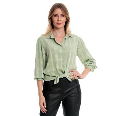 Camisa Bisô Crepe Lisa Verde