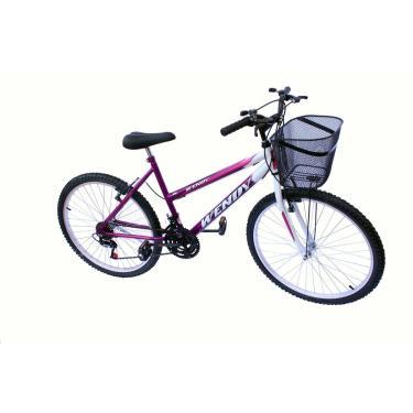 Bicicleta Aro 26 Wendy Fem Mtb 18M Convencional Cor Violeta