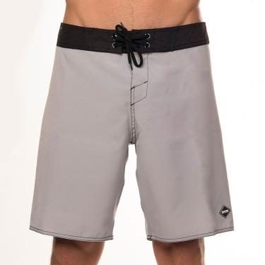 Boardshort masculino sublimado color block mormaii Cinza-claro 40