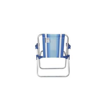 Cadeira de Praia Infantil Alta Alumínio Mor