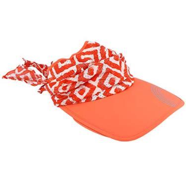SOIMISS Top Vazio Praia Chapéu de Aba Larga Chapéu de Verão Protetor Solar Chapéu Portátil Protetor Solar ao ar livre Chapéu de Proteção Solar Chapéu de Verão para Exterior ( tamanho laranja- livre com corda à prova de vento )