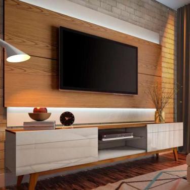 Imagem de Rack com Painel Para TV até 60 Polegadas Classic Freijó e Off White -