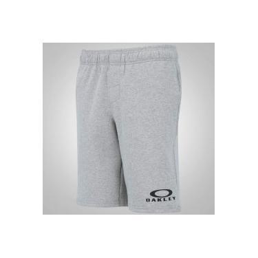618bbdf1d7 Bermuda de Moletom Oakley Logo Fleece - Masculina - CINZA Oakley