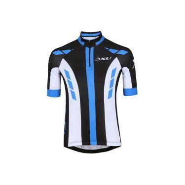 Camisa de Ciclismo com Proteção Solar UV Refactor 3XU Prime - Masculina -  PRETO AZUL cb49f35b787