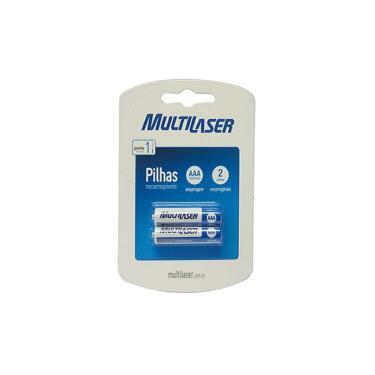 Pilha Recarregável AAA Multilaser CB051 - 1000 mAh - com 2 unidades