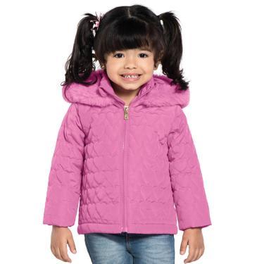 Jaqueta Infantil Feminina Com Capuz Rovitex Kids Rosa 3