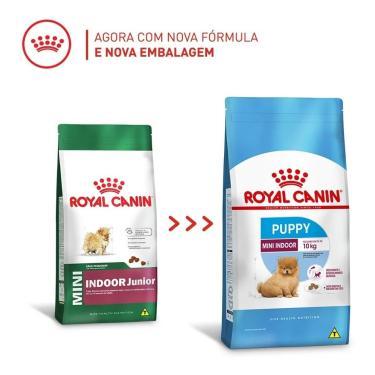 Ração Royal Canin Mini Indoor Junior Cães Filhotes 7,5Kg