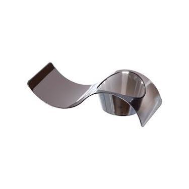 Colher de Plástico Descartável Finger Prata com 10 Unidades Silver Plastic