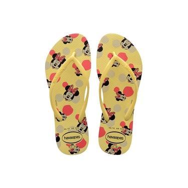 Chinelo Havaianas Slim Disney Feminina - 7011375 Amarelo Limão