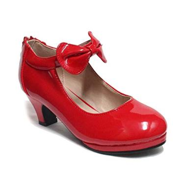 Sapato feminino Mary Jane Forever Link, Red 64, 4 Big Kid