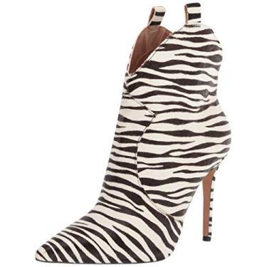 Jessica Simpson Bota feminina Pixillez2 Fashion, White/Black Zebra, 7.5