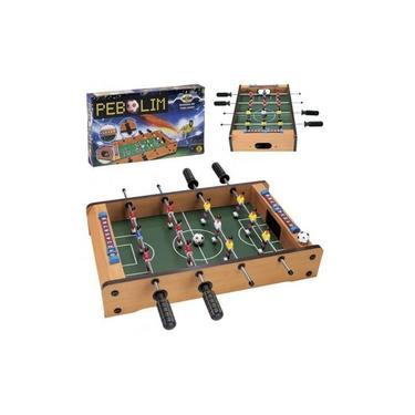 Jogo Totó Pebolim 12 Jogador Mini Mesa Infantil Frete Full
