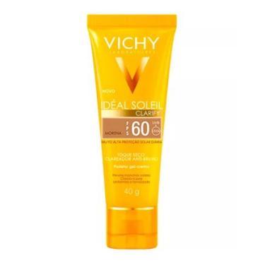 Protetor Solar Idéal Soleil Clarify Morena FPS 60 Gel Creme Com Cor 40g VICHY