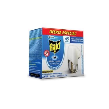 Imagem de Repelente Elétrico Líquido Raid Anti Mosquitos 1 Aparelho + 1 Refil de 32,9 ml