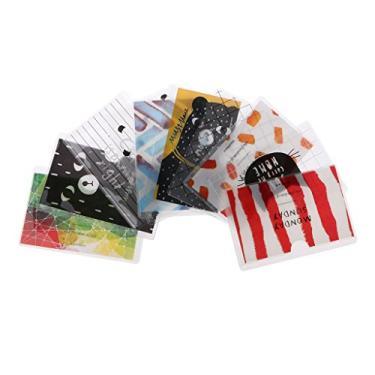 angwang Capa protetora de cartão de crédito com desenho animado para identidade, organizador de camada de PVC Kawaii