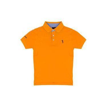 3d27458dcd Camisa Polo Laranja Lisa Infantil Aleatory