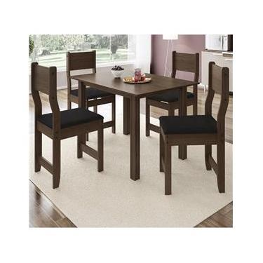 cf10703c6 Mesas e Cadeiras para Sala de Jantar 4 cadeiras Indekes Extra ...