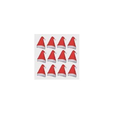 Imagem de Kit 12 Gorros Toucas Papai Noel Natal Fantasia Natalina